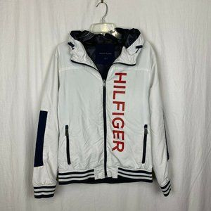 Tommy Hilfiger Men's Spellout White Zip Up Hoodie